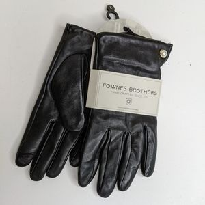 Fownes brothers leather gloves with pearl (m)